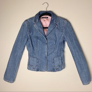 Elie Tahari • Silk Lined Denim Jacket